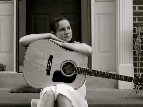 black white guitar...