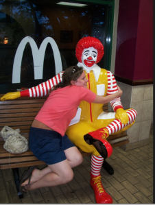 Ronald funny katherine hug cute pretty ok that is all