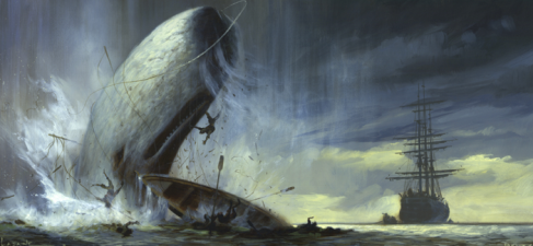 "Herman Melville left in a lot of his footnotes in the final publication of ""Moby Dick,"""