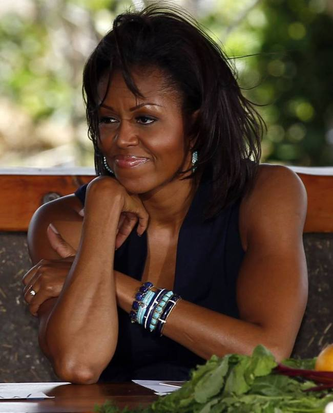 Michelle Obama and the right to bare arms.